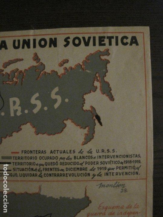 Carteles Guerra Civil: GERRA CIVIL-CARTEL AOS-AMIGOS DE LA UNION SOVIETICA-ILUSTRADO POR MONLEON-VER FOTOS-(V-18.060) - Foto 8 - 182889555