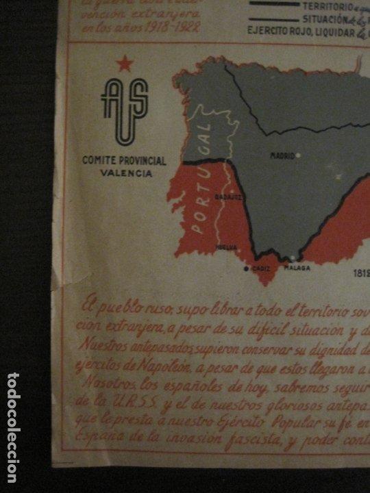 Carteles Guerra Civil: GERRA CIVIL-CARTEL AOS-AMIGOS DE LA UNION SOVIETICA-ILUSTRADO POR MONLEON-VER FOTOS-(V-18.060) - Foto 9 - 182889555