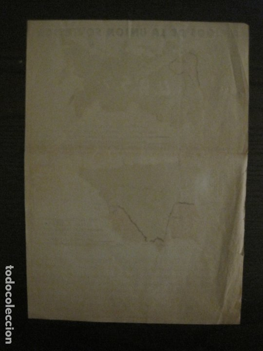 Carteles Guerra Civil: GERRA CIVIL-CARTEL AOS-AMIGOS DE LA UNION SOVIETICA-ILUSTRADO POR MONLEON-VER FOTOS-(V-18.060) - Foto 11 - 182889555