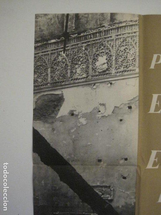 Carteles Guerra Civil: CARTEL GUERRA CIVIL ORIGINAL-EL ARTE DE ESPAÑA-HAY QUE APLASTAR EL FASCISMO-VER FOTOS-(V-18.349) - Foto 5 - 185259007
