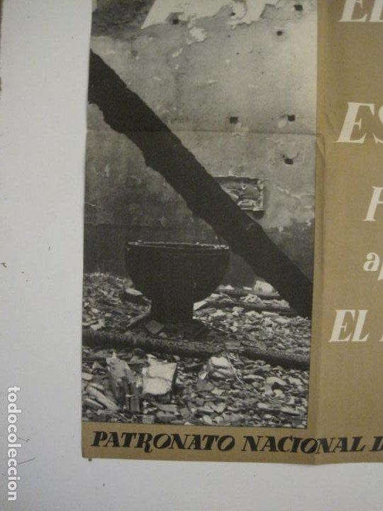Carteles Guerra Civil: CARTEL GUERRA CIVIL ORIGINAL-EL ARTE DE ESPAÑA-HAY QUE APLASTAR EL FASCISMO-VER FOTOS-(V-18.349) - Foto 6 - 185259007