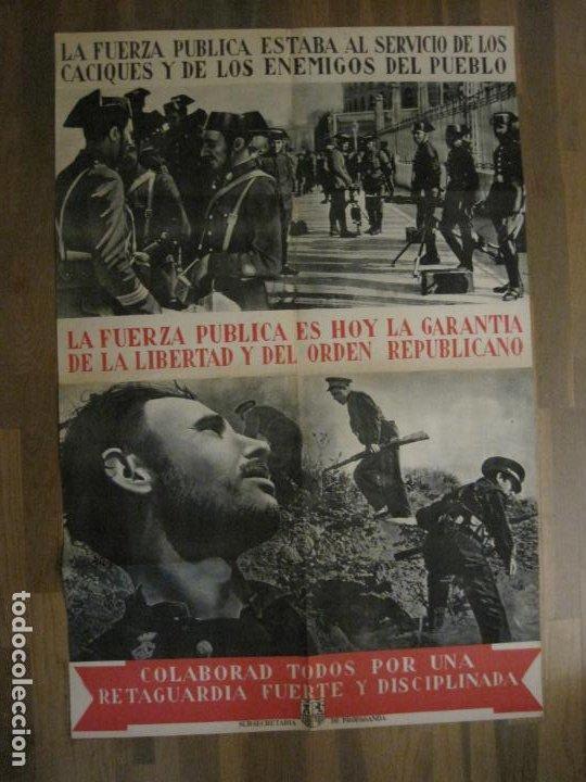 Carteles Guerra Civil: CARTEL GUERRA CIVIL ORIGINAL-GUARDIA CIVIL-FOTOMONTAJE FOTOGRAFIAS-VER FOTOS-(V-18.351) - Foto 2 - 185263000
