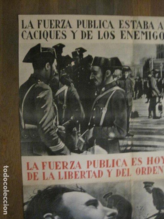 Carteles Guerra Civil: CARTEL GUERRA CIVIL ORIGINAL-GUARDIA CIVIL-FOTOMONTAJE FOTOGRAFIAS-VER FOTOS-(V-18.351) - Foto 3 - 185263000