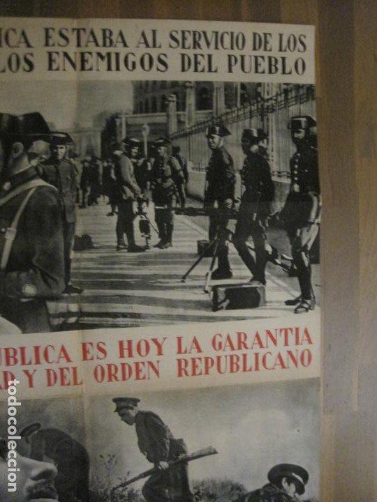 Carteles Guerra Civil: CARTEL GUERRA CIVIL ORIGINAL-GUARDIA CIVIL-FOTOMONTAJE FOTOGRAFIAS-VER FOTOS-(V-18.351) - Foto 4 - 185263000