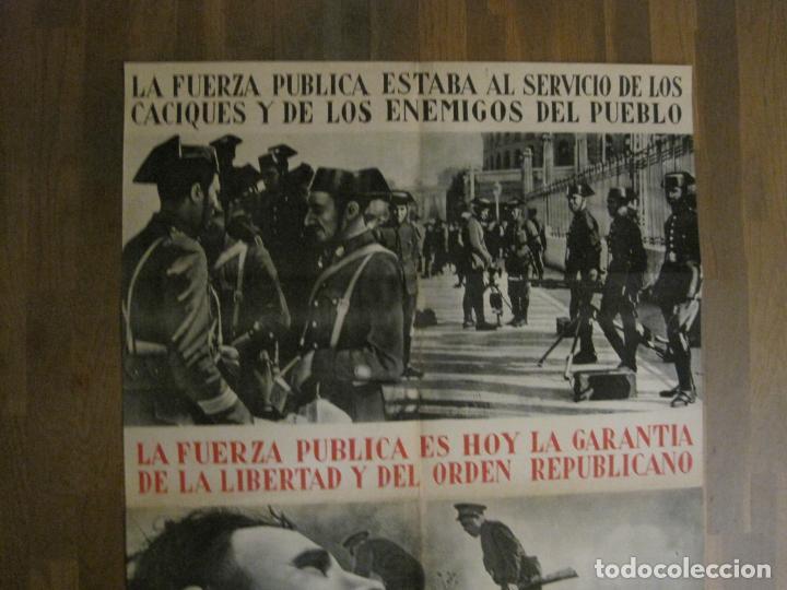 Carteles Guerra Civil: CARTEL GUERRA CIVIL ORIGINAL-GUARDIA CIVIL-FOTOMONTAJE FOTOGRAFIAS-VER FOTOS-(V-18.351) - Foto 7 - 185263000
