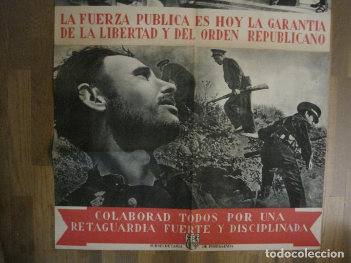 Carteles Guerra Civil: CARTEL GUERRA CIVIL ORIGINAL-GUARDIA CIVIL-FOTOMONTAJE FOTOGRAFIAS-VER FOTOS-(V-18.351) - Foto 8 - 185263000