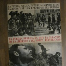 Carteles Guerra Civil: CARTEL GUERRA CIVIL ORIGINAL-GUARDIA CIVIL-FOTOMONTAJE FOTOGRAFIAS-VER FOTOS-(V-18.351). Lote 185263000