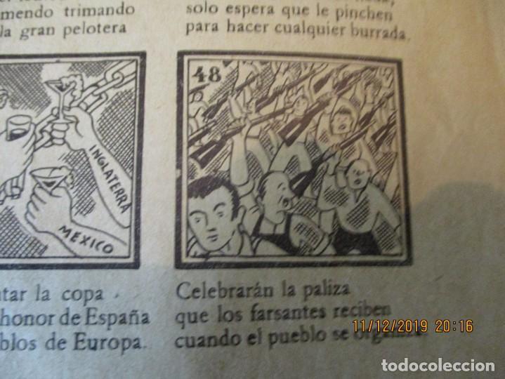 Carteles Guerra Civil: COMO EL FASCIO SE DERRUMBA FRENTE AL VALOR ESPAÑOL, O DE LA CUNA A LA TUMBA. 2ª REPUBLICA. - Foto 4 - 189263393