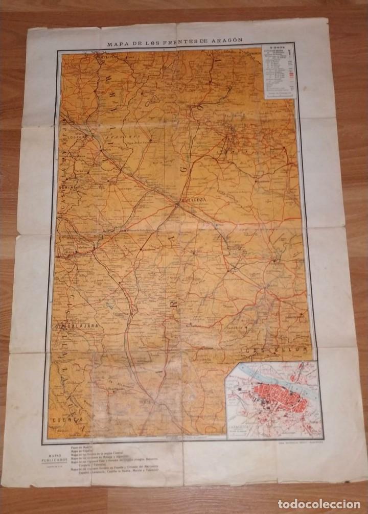 MAPA DE LOS FRENTES DE ARAGÓN. EDITORIAL SEGUI. BARCELONA. (Coleccionismo - Carteles Gran Formato - Carteles Guerra Civil)