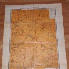 Carteles Guerra Civil: MAPA DE LOS FRENTES DE ARAGÓN. EDITORIAL SEGUI. BARCELONA. . Lote 190057048