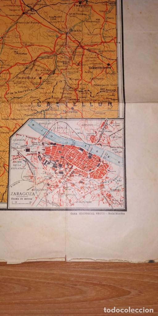 Carteles Guerra Civil: MAPA DE LOS FRENTES DE ARAGÓN. EDITORIAL SEGUI. BARCELONA. - Foto 2 - 190057048