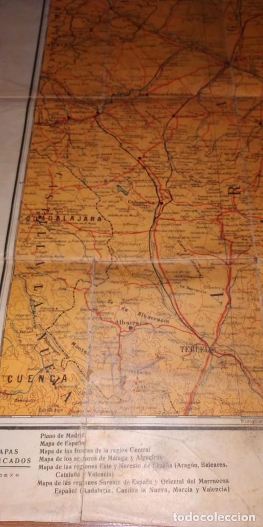 Carteles Guerra Civil: MAPA DE LOS FRENTES DE ARAGÓN. EDITORIAL SEGUI. BARCELONA. - Foto 3 - 190057048