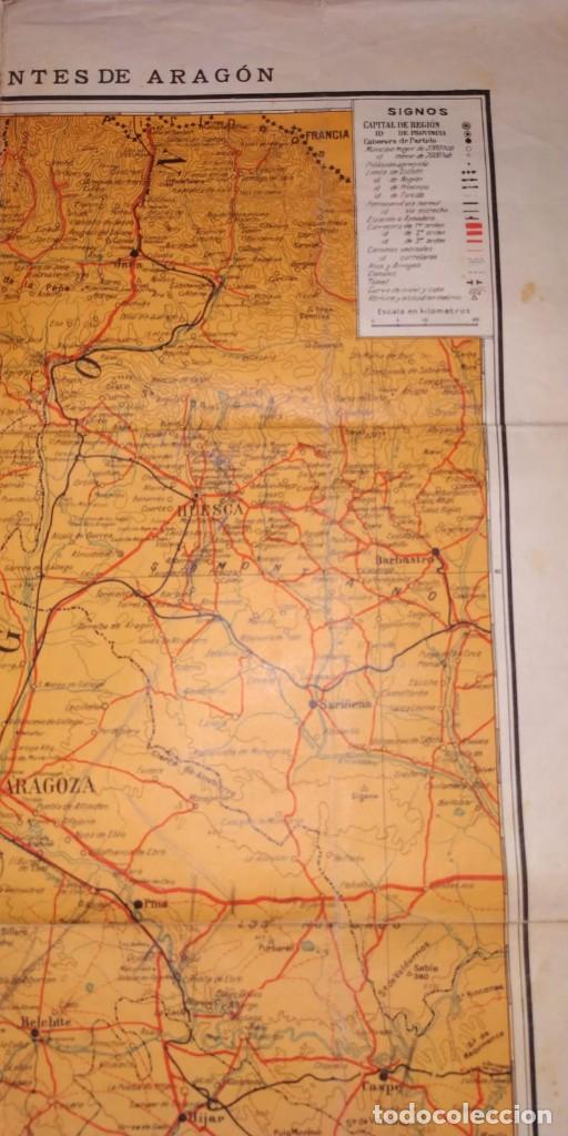 Carteles Guerra Civil: MAPA DE LOS FRENTES DE ARAGÓN. EDITORIAL SEGUI. BARCELONA. - Foto 4 - 190057048
