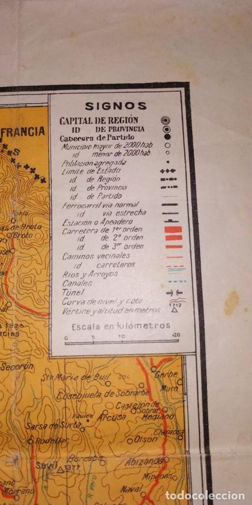Carteles Guerra Civil: MAPA DE LOS FRENTES DE ARAGÓN. EDITORIAL SEGUI. BARCELONA. - Foto 5 - 190057048