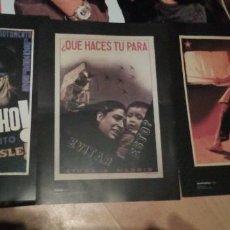 Carteles Guerra Civil: LOTE DE 3 CARTELES REPRODUCION DE LA REPUBLICA ESPAÑOLA 1937 TAMAÑO FOLIO EN CARTULINA. Lote 191999686