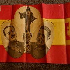 Carteles Guerra Civil: CARTEL GUERRA CIVIL. FRANCO Y MOLA. REGULAR ESTADO. VED FOTOS. ORIGINAL.. Lote 192589697