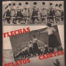Carteles Guerra Civil: ORGANIZACION JUVENIL-FLECHAS-PELAYOS Y CADETES- SE ABRE Y MIDE: 62 X 40 C.M. VER FOTOS. Lote 200761418