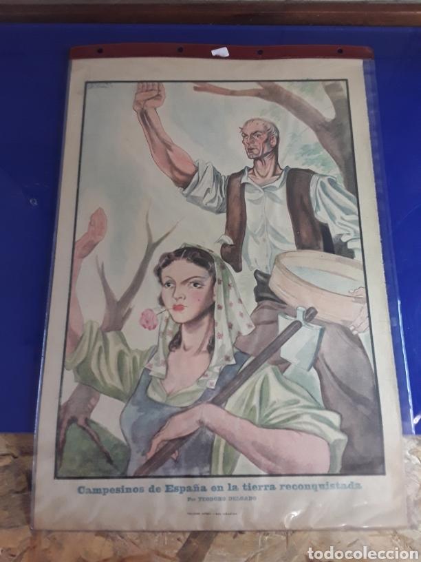 CARTEL PROPABANDISTICO DE LOS 40 DE TEODORO DELGADO (Coleccionismo - Carteles Gran Formato - Carteles Guerra Civil)