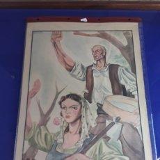 Carteles Guerra Civil: CARTEL PROPABANDISTICO DE LOS 40 DE TEODORO DELGADO. Lote 201184028
