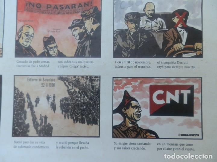 Carteles Guerra Civil: CARTEL ALELUYAS LIBERTARIAS SABOR A TUTY FRUTY DEDICADAS AL LEONÉS BUENAVENTURA DURRUTI 1896 -1996. - Foto 4 - 205344036