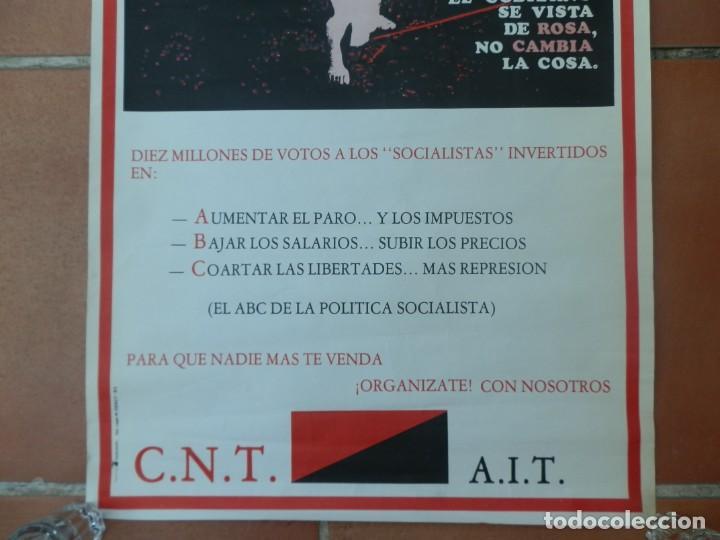 Carteles Guerra Civil: CARTEL CNT AIT PARA QUE NUNCA MÁS TE VENDAN. AÑOS 80. - Foto 3 - 205345261