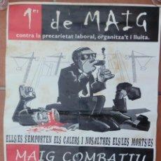 Carteles Guerra Civil: CARTEL 1ER DE MAIG CNT AIT, MUJERES LIBRES DE CATALUÑA,F.I.J.L. COMITE REGIONAL CATALUNYA-BALEARS.. Lote 205346947