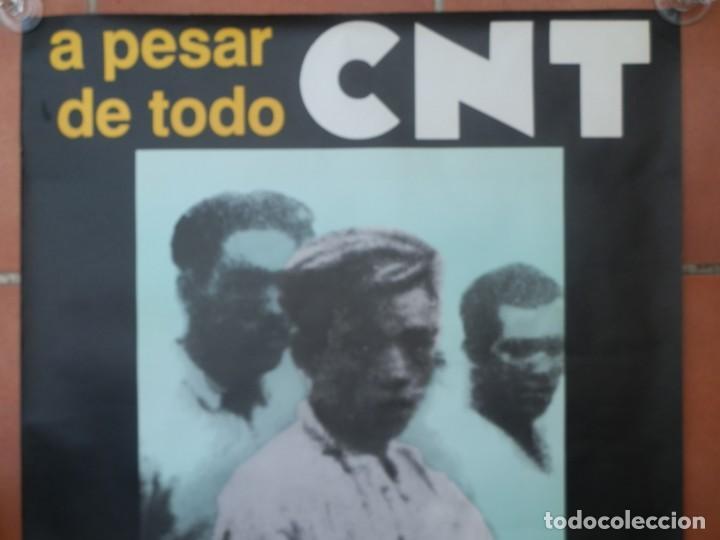Carteles Guerra Civil: CARTEL A PESAR DE TODO CNT NO SOMOS MERCANCIA QUE SE VENDA. SOMOS Y SEREMOS LO QUE QUERAMOS, - Foto 2 - 205347323