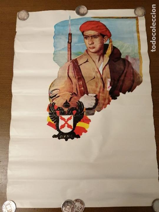 CARTEL- SOLDADO DE REQUETE.- EDITORIAL-G. MOREILLO- MIDE: 65 X 44 C.M. PAPEL CARTON. VER (Coleccionismo - Carteles Gran Formato - Carteles Guerra Civil)