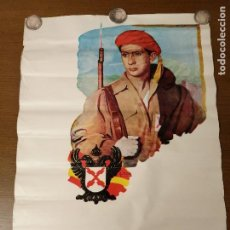 Carteles Guerra Civil: CARTEL- SOLDADO DE REQUETE.- EDITORIAL-G. MOREILLO- MIDE: 65 X 44 C.M. PAPEL CARTON. VER. Lote 208124260