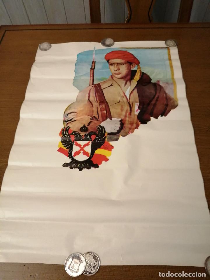 Carteles Guerra Civil: CARTEL- SOLDADO DE REQUETE.- EDITORIAL-G. MOREILLO- MIDE: 65 X 44 C.M. PAPEL CARTON. VER - Foto 2 - 208124260