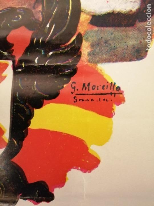 Carteles Guerra Civil: CARTEL- SOLDADO DE REQUETE.- EDITORIAL-G. MOREILLO- MIDE: 65 X 44 C.M. PAPEL CARTON. VER - Foto 3 - 208124260
