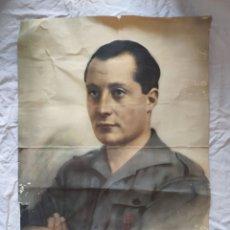 Carteles Guerra Civil: GRAN LÁMINA RETRATO JOSÉ ANTONIO PRIMO DE RIVERA, AÑOS 30/40. Lote 210010381