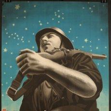 Carteles Guerra Civil: YA PRESENTIMOS EL AMANECER... CARTEL DE LA GUERRA CIVIL. BANDO FRANQUISTA. 97X68 CM. Lote 213643276