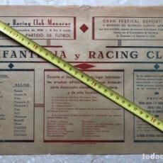 Carteles Guerra Civil: CARTEL. RACING CLUB MANACOR. 1936. GUERRA CIVIL MALLORCA. Lote 219860235