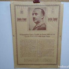 Carteles Guerra Civil: CARTEL DEL DISCURSO DE FRANCO A LA GUARDIA CIVIL EN LA GUERRA CIVIL 22/7/36.. Lote 221427043