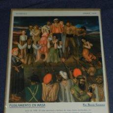 Carteles Guerra Civil: CARTEL REVISTA ESTUDIOS ENERO 1937 FUSILAMIENTO EN MASA POR BORRAS CASANOVA 35 X 25 CM. Lote 221801806