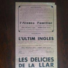 """Carteles Guerra Civil: CARTELL """"SANTBOIANS"""" 1936 VETLLA TEATRAL A PROFIT DELS SOLDATS ATENEU FAMILIAR SANT BOI DE LLOBREGAT. Lote 223663372"""