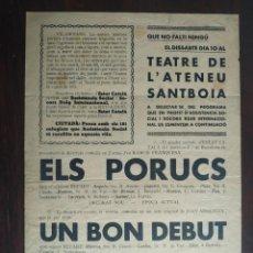 Carteles Guerra Civil: CARTELL VETLLA ARTÍSTICA SOCORS ROIG INTERNACIONAL ATENEU SANTBOIA VILABOI SANT BOI DE LLOBREGAT 37. Lote 223701885