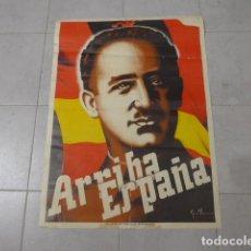 Carteles Guerra Civil: ANTIGUO Y RARO GRAN CARTEL DE GUERRA CIVIL, ARRIBA ESPAÑA, ORIGINAL. ZARAGOZA, FALANGE.. Lote 228485760