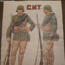 Carteles Guerra Civil: CARTEL CNT NO PASARÁN 41 X 29 CM. Lote 253935070