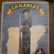 Carteles Guerra Civil: CARTEL CRUCERO CANARIAS 41 X 29 CM. Lote 253935310