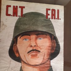 Carteles Guerra Civil: CARTEL CNT FAI ESPAÑA LIBRE 41 X 29 CM. Lote 253956925