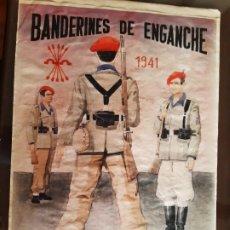 Carteles Guerra Civil: CARTEL DIVISIONARIOS BANDERÍN DE ENGANCHE 41 X 29 CM. Lote 253957410