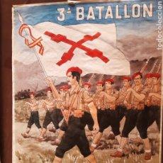 Carteles Guerra Civil: CARTEL 3 BATALLÓN NAVARRA 41 X 29 CM. Lote 253960635