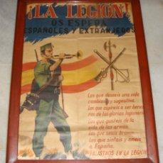 Carteles Guerra Civil: CARTEL DE LA LEGIÓN. GUERRA CIVIL. (65 CM X 45 CM). Lote 259910245