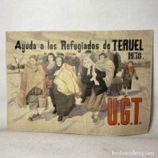 Carteles Guerra Civil: CARTEL GUERRA CIVIL REFUGIADOS 1938. Lote 261478480