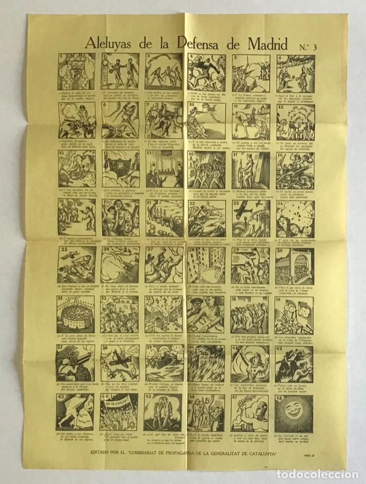 ALELUYAS DE LA DEFENSA DE MADRID N.º 3. AUCA. GUERRA CIVIL (Coleccionismo - Carteles Gran Formato - Carteles Guerra Civil)