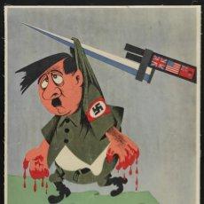 Carteles Guerra Civil: FUORI I TEDESCHI 1942 - PROPAGANDA GUERRA MUNDIAL - CARTEL LÁMINA PÓSTER 60X90CM. Lote 273118838
