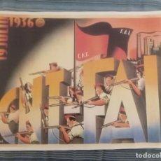Carteles Guerra Civil: CARTEL GUERRA CIVIL - TONI VIDAL CNT-FAI. Lote 273127868