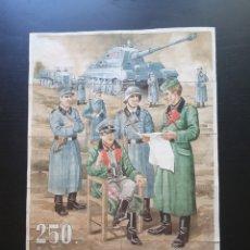 Carteles Guerra Civil: 10 CUPONES RACIONAMIENTO. CIUDAD REAL 1944. DIVISION AZUL. GUERRA CIVIL. Lote 275341368